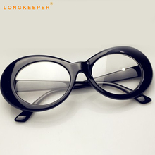 Goggles lNIRVANA Kurt Cobain Glasses Frames Men Women Eyeglasses Transparent Eye Clear Lens Womens LongKeeper