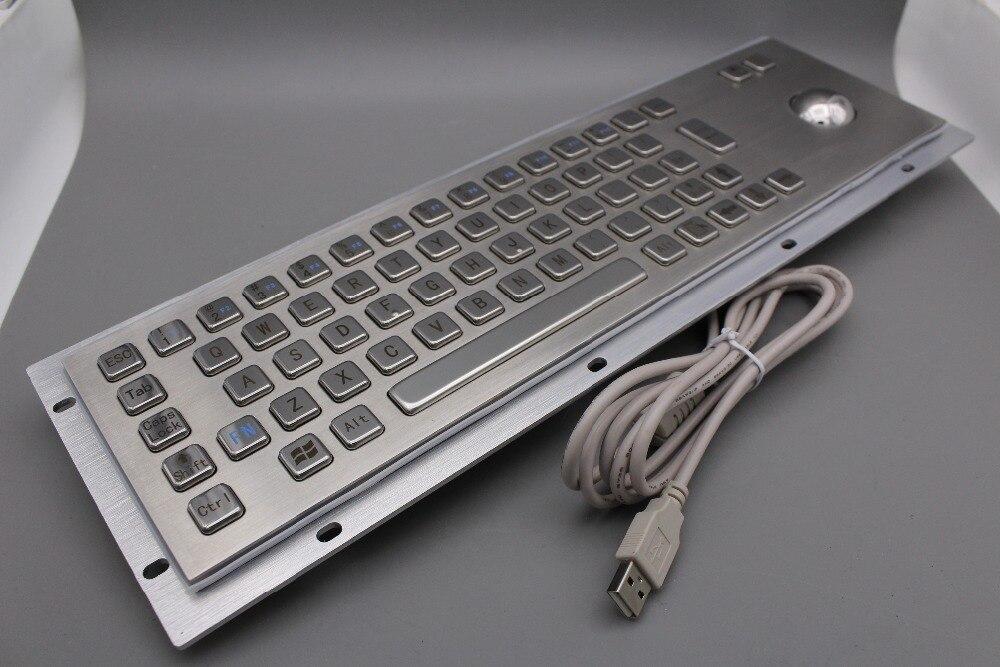 Teclado de acero inoxidable Teclado quiosco de metal con teclados - Periféricos de la computadora - foto 4