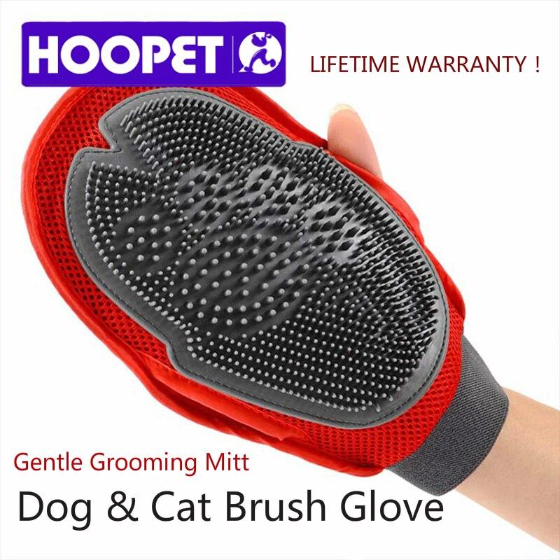 HOOPET Cat Pet Dog fur Grooming Groom Glove Mitt Brush Comb Massage Bath Brand New big dog wash tool Bubble maker