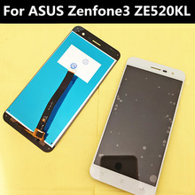 High quality ForASUS Zenfone3 ZE520kl  LCD Display + Touch Screen +tools 5.2 Digitizer Assembly Replacement Accessories