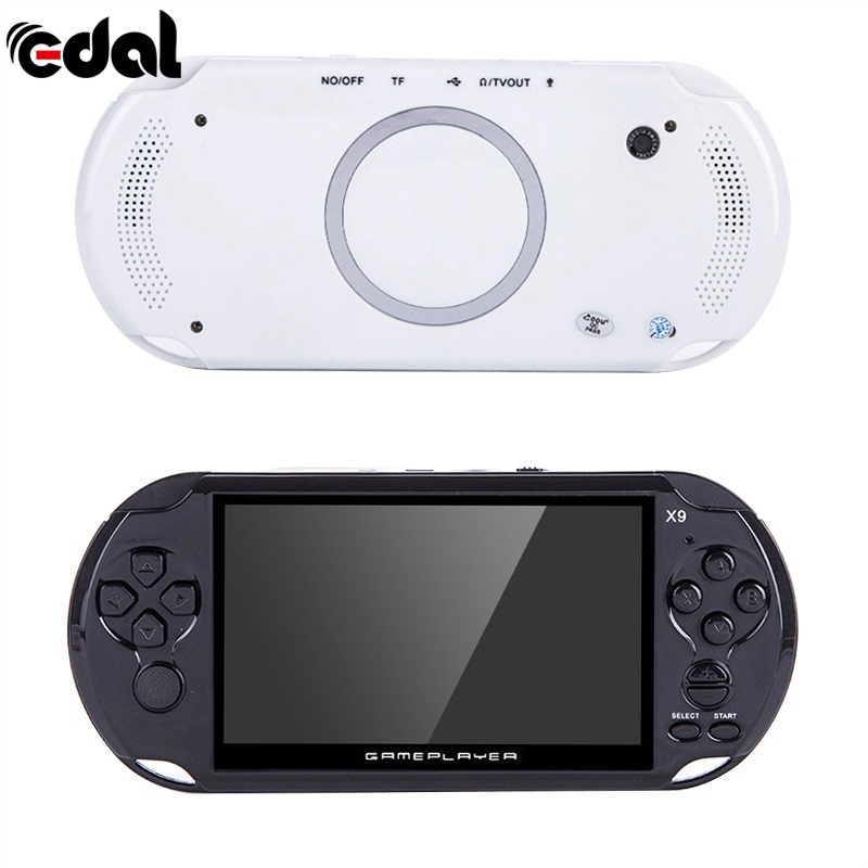 Portable Pocket Handheld Retro Game Player X9 Rechargeable 5-inch 8G Handheld Retro Game Console Video MP3 Player Camera gpd xd 5 inch touchscreen quad core cpu mali t764 gpu 2gb ram and 32gb rom handheld game player handheld flip video game console