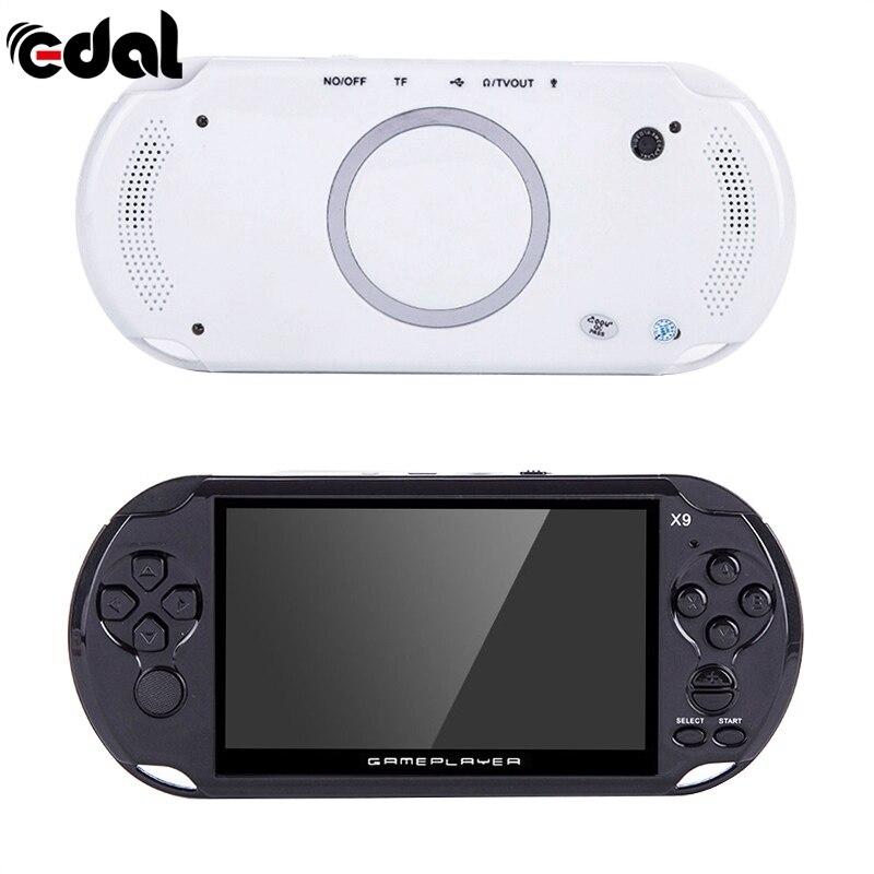 Portable de Poche De Poche Rétro Jeu Lecteur X9 Rechargeable pouces 8G De Poche Rétro Console De Jeux Vidéo Lecteur MP3 Caméra