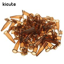 Kicute 50pcs/set 1.5ml Brown Plastic Centrifugal Test Tube Sample Vial With Snap Cap For Sample For Lab Equipment School Supply(China)