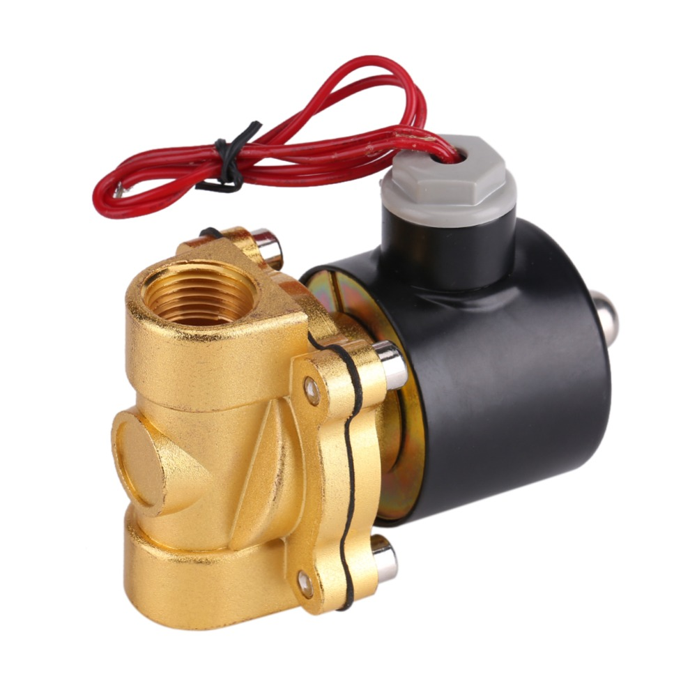 220V DN15 1/2 Electric Normal Closed Solenoid Valve NBR Electromagnetic Valves for Water ...