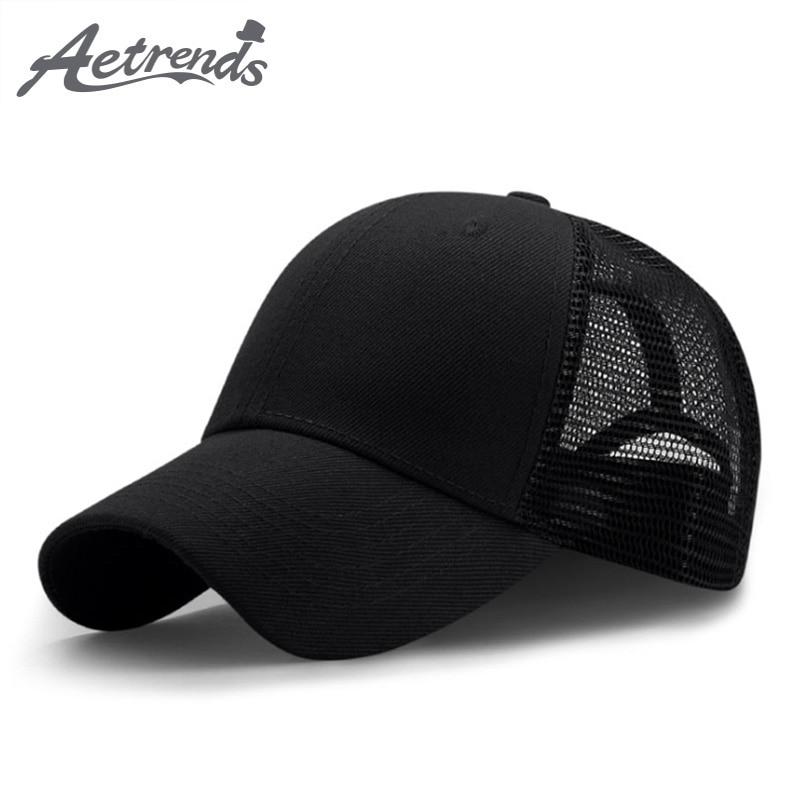 [AETRENDS] 2018 New Summer Sport Mesh   Baseball     Caps   Men or Women Outdoor Snapback Bone Breathable Hats Z-6273