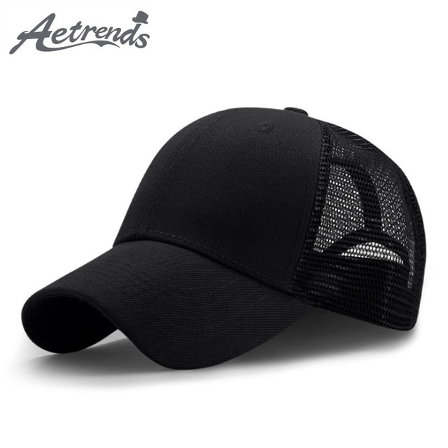 AETRENDS  2018 New Summer Sport Mesh Baseball Caps Men or Women Outdoor  Snapback Bone 6ef4c0669bde