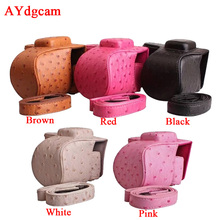 New PU Leather-based Video Digicam Case Bag For Samsung NX3000 NX3300 Digicam cowl with Strap