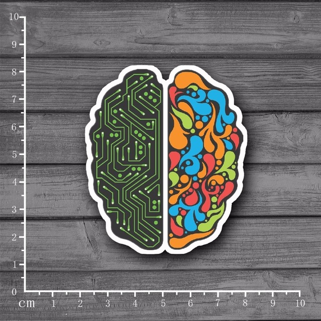 Programming The Left And Right Brain Design Scrapbooking Stationery Graffiti Stickers Laptop Skin Car Styling Kids