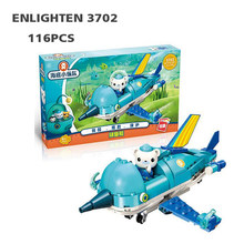 ENLIGHTEN 3701 Creator Ideas City Tiger Shark Boat Vehicle Octonauts Building Blocks Bricks Toys Compatible Legoing Brinquedos(China)