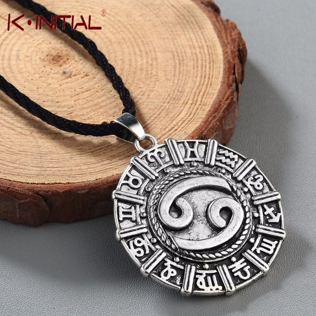 Kinitial Karkat Zodiac Cancer Constellation Necklace Birthday Jewelry  Astrology Zodiac Horoscope Necklace Star Sign Viking Runes-in Pendants from