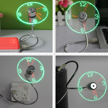 Etmakit Durable Adjustable USB Gadget Mini Flexible LED Light USB Fan Time Clock DeskClock Cool Gadget Time Display High Quality