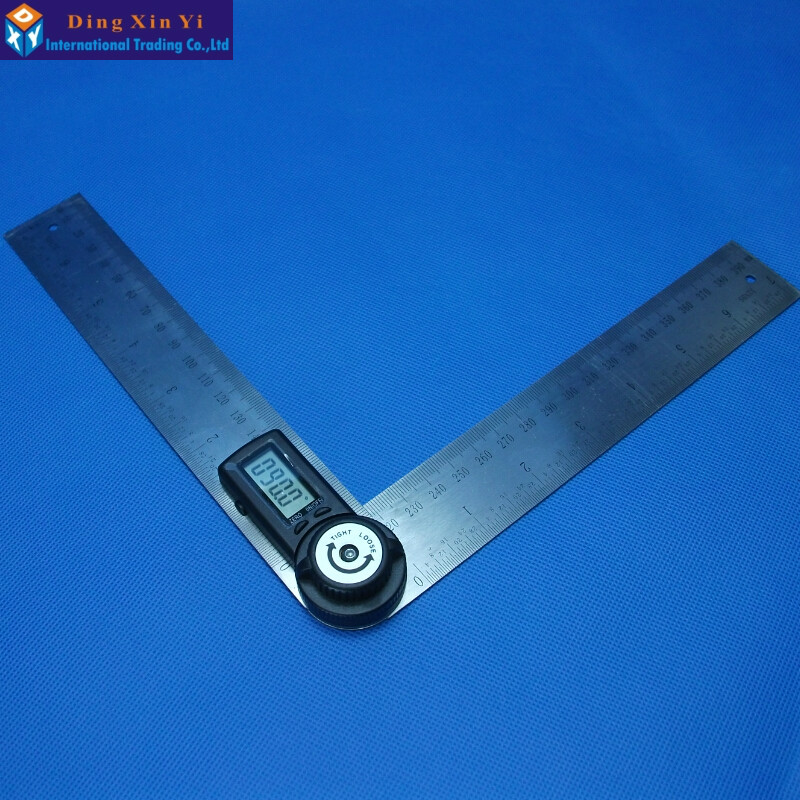 Free shipping 150mm 360 degree 7 digital display goniometer angle finder meter protractor  Finder Miter Gauge 0 225 degree digital angle level meter gauge 400mm 16inch electronic protractor free shipping