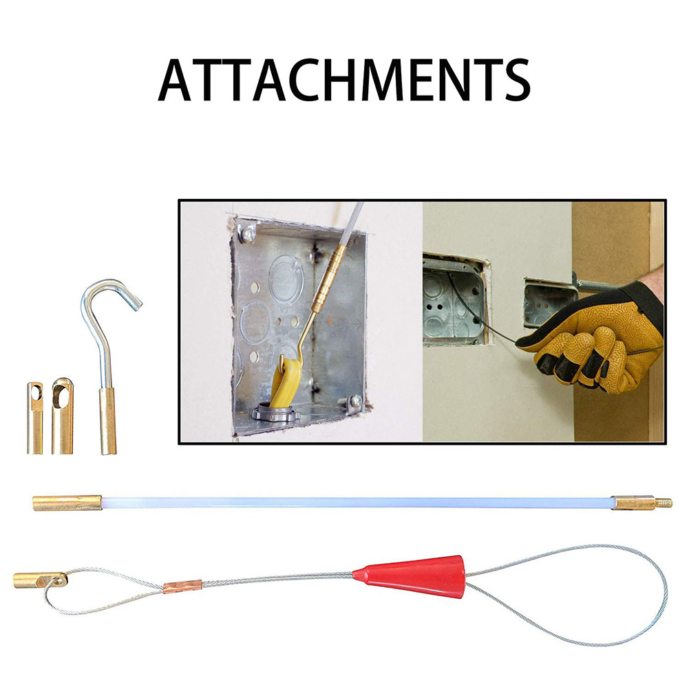 Провод из стекловолокна кабель ходовой шток коаксиальный Соединительный рыбий скотч тянущий Крюк Набор отверстий LO88