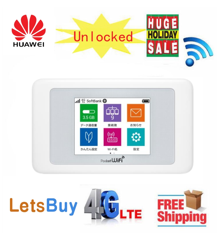 Unlocked Huawei 601hw 4G CAT11 612Mbps LTE Mobile Hotspot Wireless