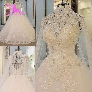 Image 2 - AIJINGYU Moederschap Trouwjurken Vintage Gown Nieuwe Bridal Boho Chic Dragen Avondjurken Vintage Trouwjurk Met Mouwen