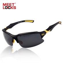 3b1780fd22 MEETLOCKS Bike ciclismo gafas de sol deportivas UV 400 lentes polarizadas  para pesca Golf conducción correr