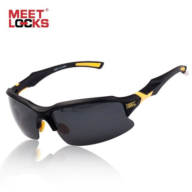 108aa41be1d7 MEETLOCKS велосипед Велоспорт очки спортивные солнцезащитные очки UV 400  поляризованные линзы для Рыбалка Гольф вождения бег