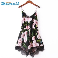 Womail Newly Design Women Flower Lace Chiffon Bodycon Jumpsuit Party Playsuit Romper 160527 Drop Shipping