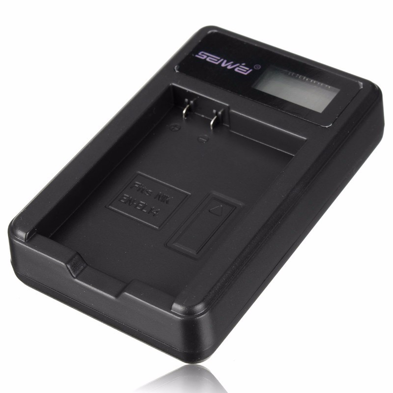 Camera Li-ion Battery Charger for Nikon EN-EL14 D3100 D3200 P7000 P7100 P7700 P7800 D5100 D5200 With LED display