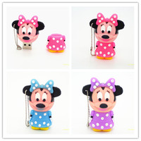 Pendriveping Couple Gift Minny Mickey Mouse Cute Model8GB 16GB 32GB Usb Flash Drive Flash Memory Stick