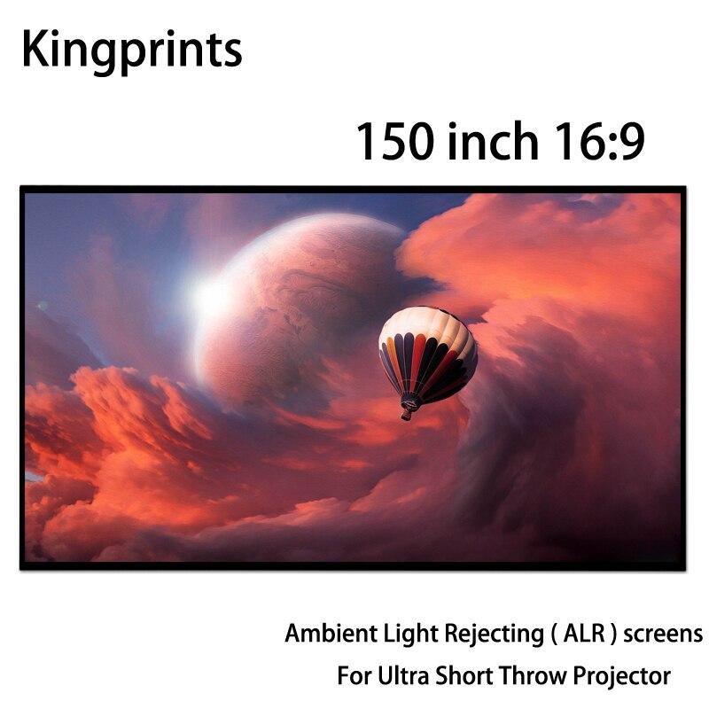 Écrans de Projection 3D 150 pouces 16x9 lumière ambiante à cadre étroit rejetant le tissu ALR pour projecteur WEMAX One LG Ultra court