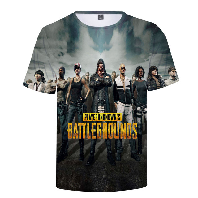 3D Game PUBG T-Shirt Summer New T Shirt Men's/Women 2018 Fashion Casual 3D Tshirt Men Harajuku PUBG 3D T shirts Men Tops 3