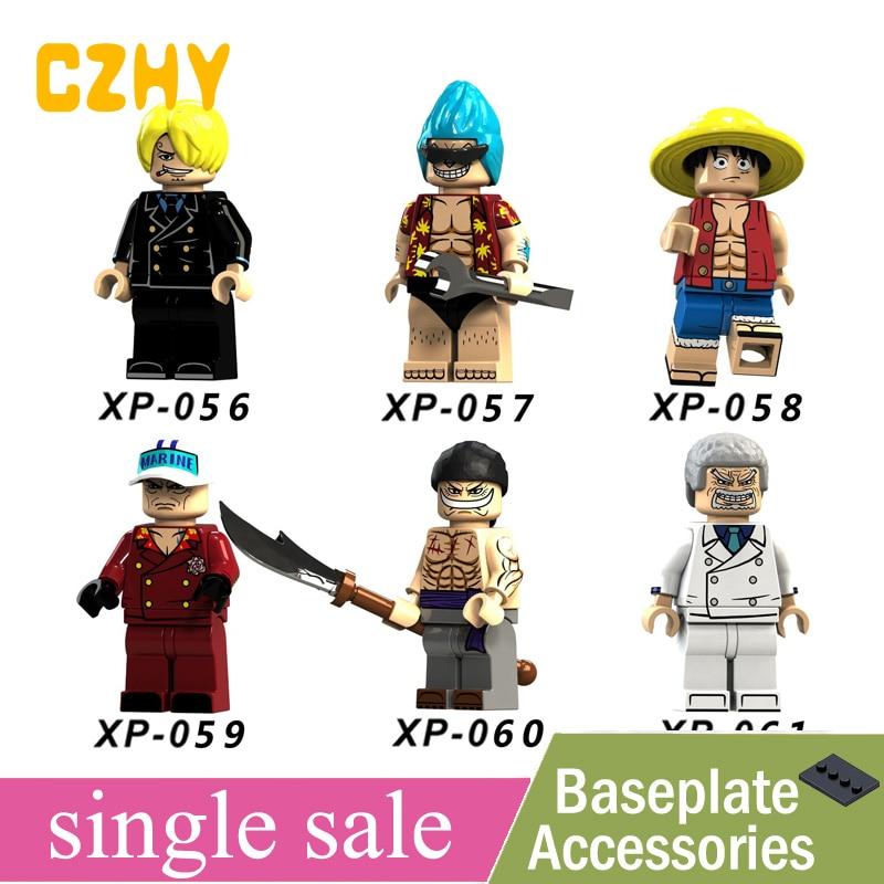 Toys & Hobbies Collection Here One Piece Building Blocks Luffy Vinsmoke Sanji Franky Sakazuki Edward Newgate Monkey D Garp Toys Minifigured Legoe Xp056-061 Attractive Appearance