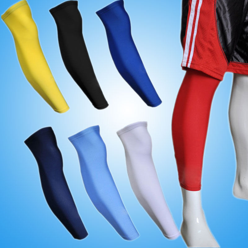 1X Cooling font b Arm b font Sleeves Cover Basketball Football Leg Knee Sports Protective Gear