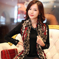 2016 Free shipping peach leopard cotton scarf shawl lengthened