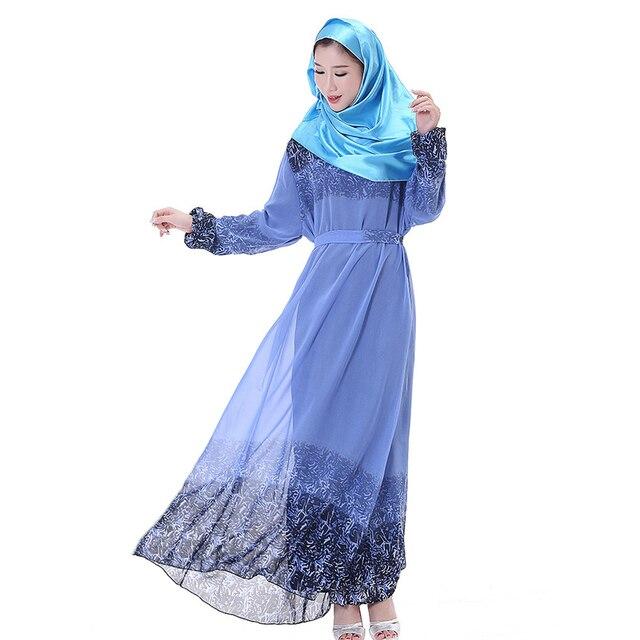 Новый Цветочный Принт плюс размер абая giyim пакистан женская одежда турецкая абая баю мусульманских женщин одежда женщин с поясом