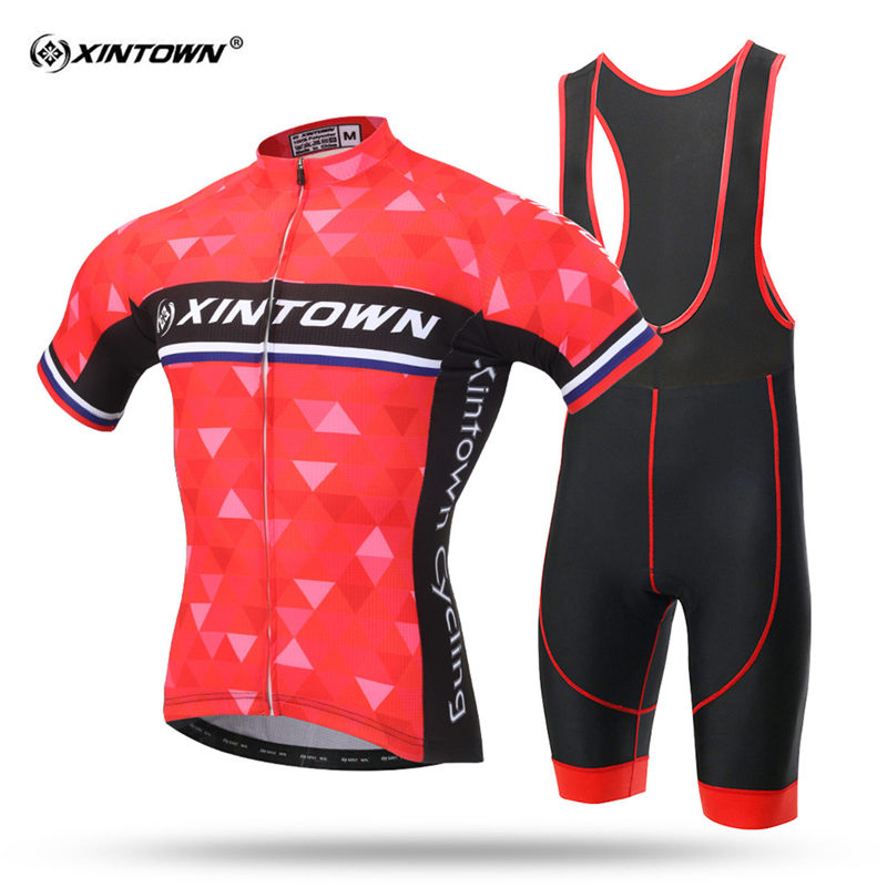XINTOWN Quick Dry Short Sleeve Cycling Jersey Set MTB Bike Clothing Summer Bicycle Jerseys Sweat Men Maillot Ropa Ciclismo