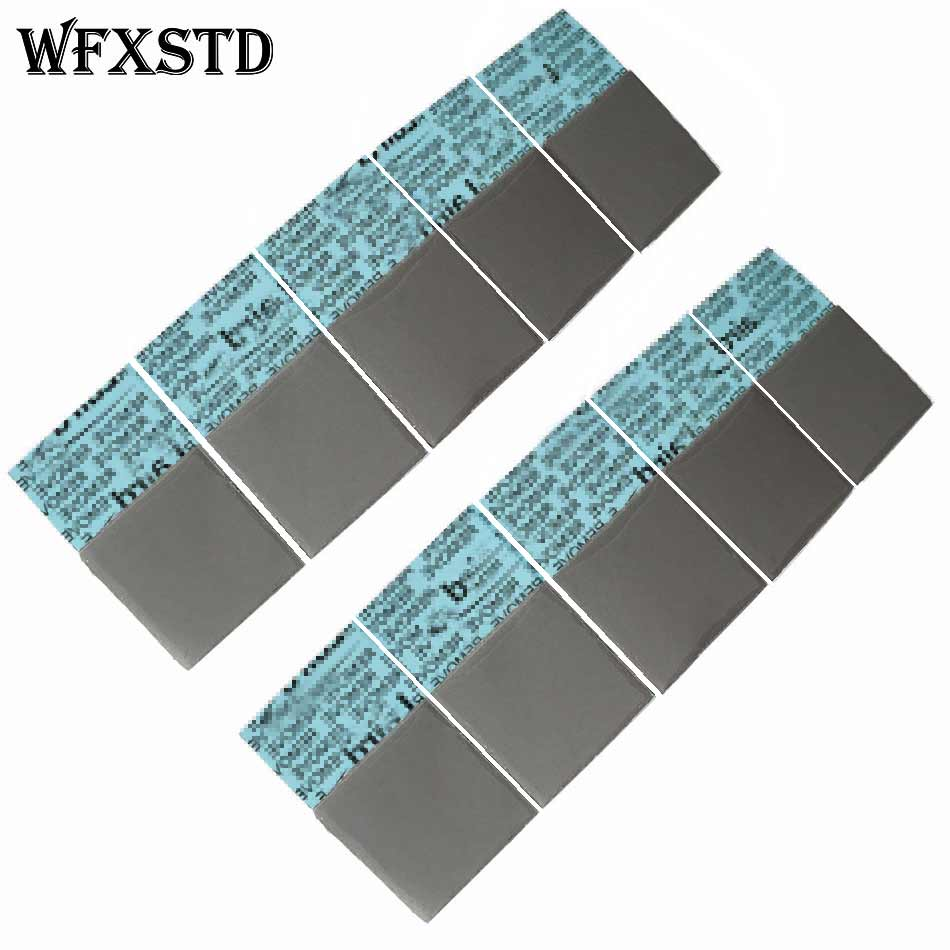 100Pcs 1mm Silicon Thermal Pad For LAIRD notebook graphics memory Beiqiao thermal silica thermal pad flex740