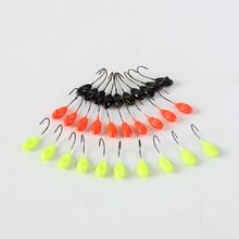 Cheap Fishing Lure Jig Head 1.1g Ice Fishing Jig Head Hook Hard Lure Bait Hooks Wobbler 50pcs 3 Colors For Choose Tackle