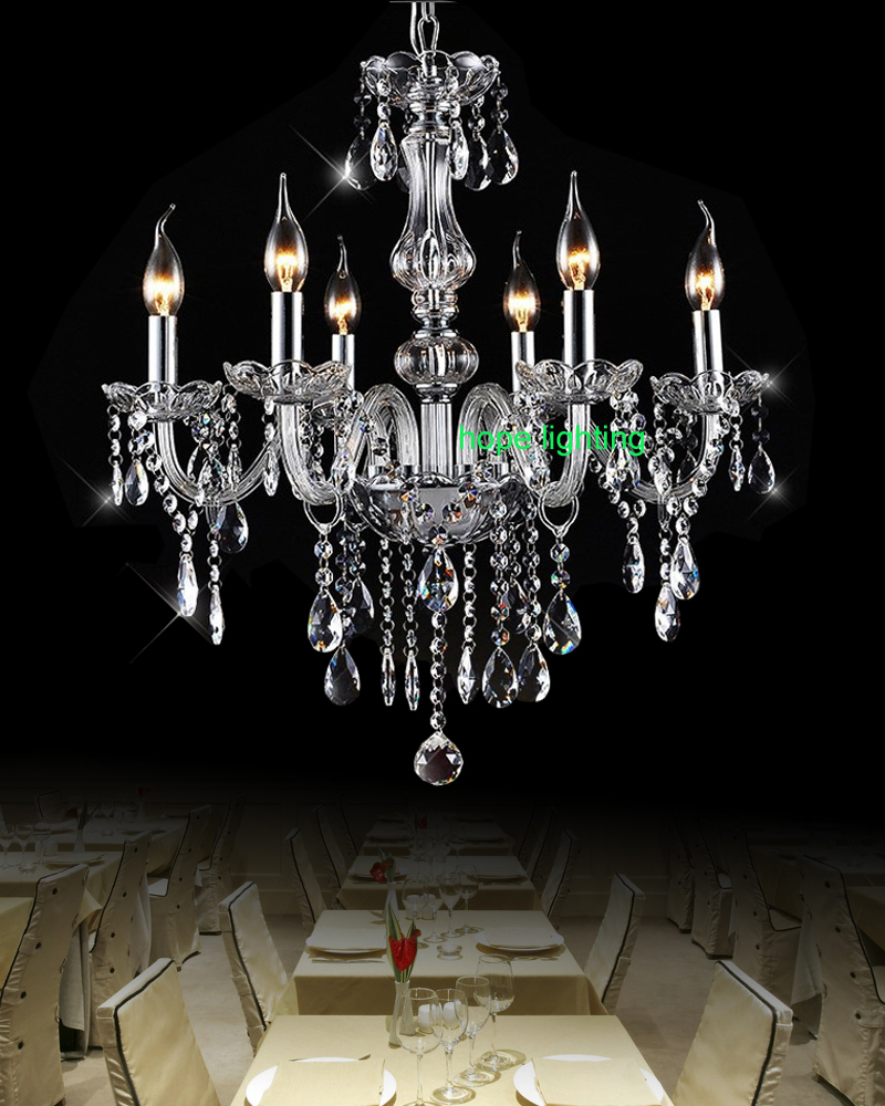 Dining Room Modern Crystal Chandeliers: Dining Room Candle Chandelier Light Modern Crystal