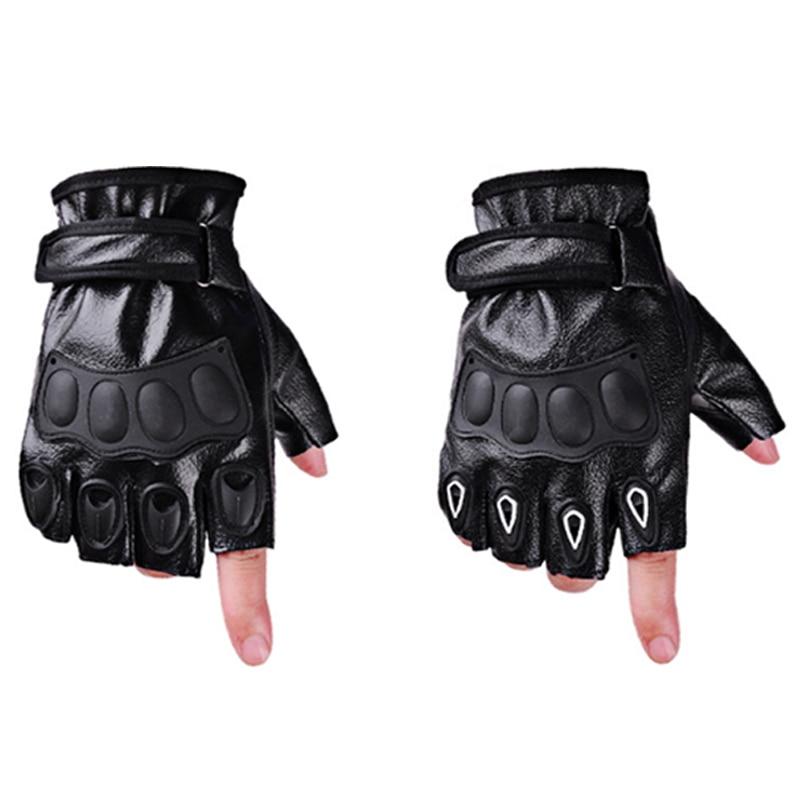 2pcs/Pair Soft Motor Motorbike Riding Racing Men Women Motorcycle Gloves Leather Half Finger Motorcycle Gloves Summer Winter
