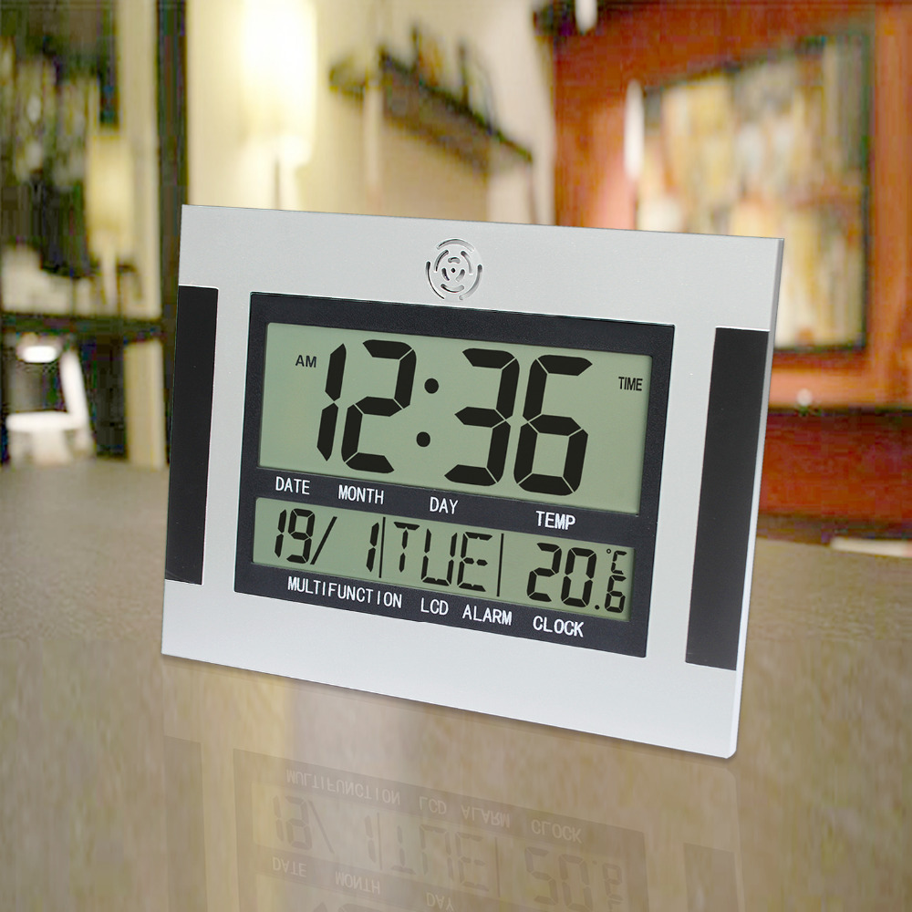 JIMEI H110 Multifunctional simple and practical temperature and humidity meter calendar alarm clock