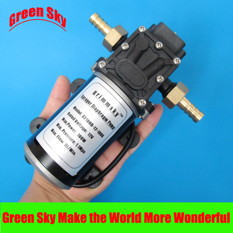 160PSI DC 100W fog/spray/misting,spraying pesticide,farm,greenhouse,garden irrigation use water pump 12v high pressure