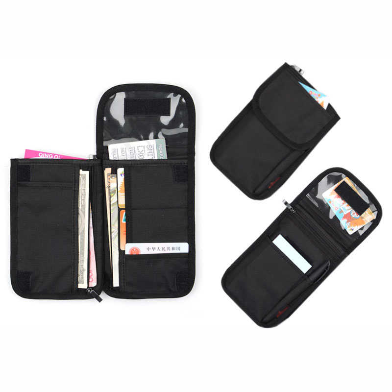 de32d00b69ff Oxford Travel Passport Neck Bag RFID ID Holder Phone Wallet Pouch for Men  and Women Multifunction Credit Card Tickets Bag Pouch