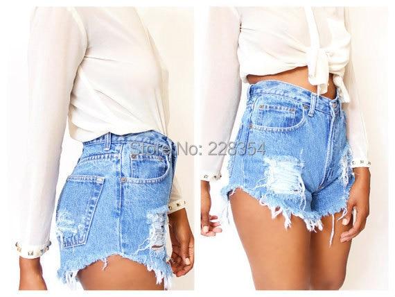 Popular Destroyed Denim Shorts-Buy Cheap Destroyed Denim Shorts ...