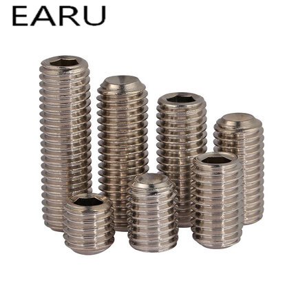 304 Stainless Steel Inner Hexagon Hex Socket Cup Head Headless Cap Set Screws Bolt M10*8/10/12/16/20/25/30/35/40/45/50 дега 4 магнитные закладки