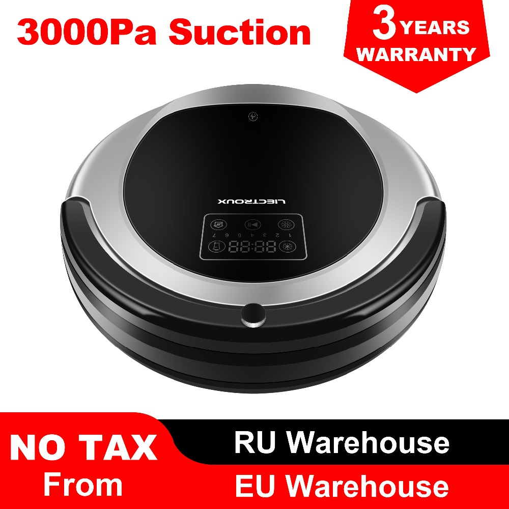 (FBA) LIECTROUX Robot Cleaner Vacuum B6009, Navigation Map, Memory Smart, Suction 3000pa, Lampu Dua UV, Wet Dry Mop, Wifi App aspirador