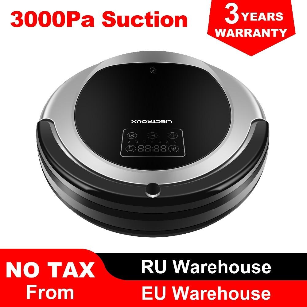 (FBA)LIECTROUX Robot Vacuum Cleaner B6009,Map Navigation,Smart Memory,Suction 3000pa,Dual UV Lamp,Wet Dry Mop,Wifi App Aspirador
