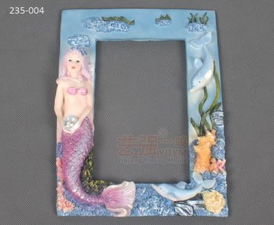 Large chocolate molds 235 004_ Mermaid Marine Frame sugar arts mold ...