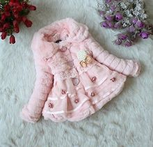 2016 New Girl's Fashion Faux Fur jackets Girls Outerwear Children's Coat winter Autumn Baby Coats
