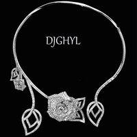 Mode Hohl Blume Strass Kurze Kragenchoker Halskette Charme Für Frauen Partei Schmuck Kleider braut Collier Femme Bijoux