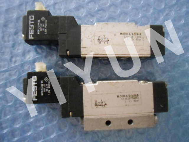 MOEH-3/2-1/8-P-B 173430 MOEH-3/2-1/8-B 173428 FESTO Solenoid valve Pneumatic components meh 5 2 1 8 p l b 173135 festo single solenoid valve pneumatic control valve