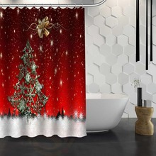 Personalized Christmas Shower Curtain Pattern Customized Bathroom Fabric For Decor Hsq326026zChina