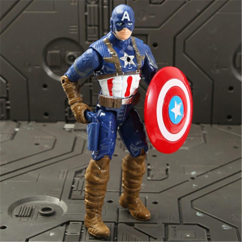 Marvel Мстители 3 Бесконечность войны фильм Аниме Супер Герои Капитан Америка, железный человек, Халк Тор супергерой Фигурки игрушки - Цвет: captain