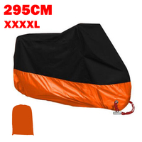 XXXXL Orange Motorcycle Cover Fit For Harley Davidson Street Glide Electra Glide Ultra Classic FLHTCU Road King Touring GL