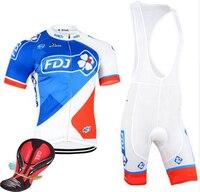 2016 Fdj Cycling Jersey Team Cycling Clothing Quick Dry Cycling Bibs Set With Gel Pad Cycling